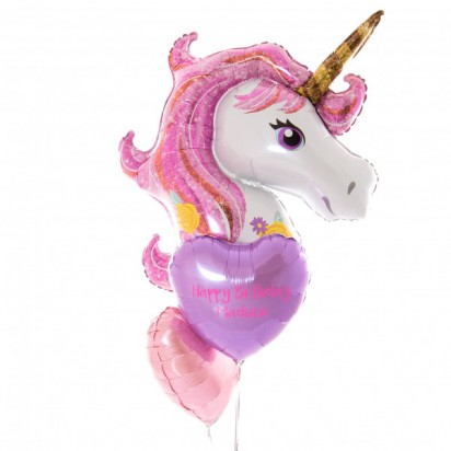 Magical Unicorn Personalized Balloon Bouquet