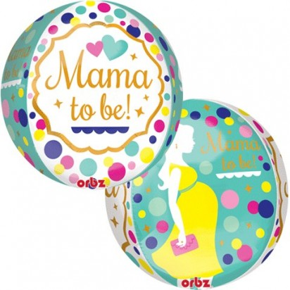 "16"" Jumbo ORBZ: Mom To Be  Helium Foil Balloon"