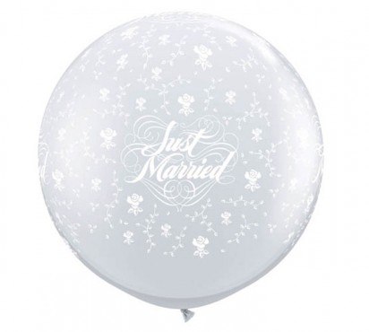 3' Transparent Wedding Large Helium Balloon (90 cm)