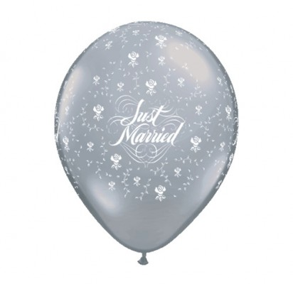"11"" Just Married Helium  Latex Printed Balloon"
