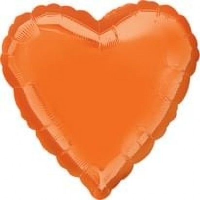 "18"" Metallic Orange Helium Foil Balloon"