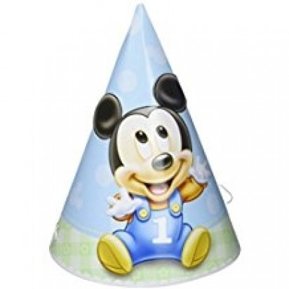 Mickey First Party Hats (6pcs)