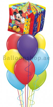 Mickey Mouse 1st Birthday Balloon Arrangement Order Now