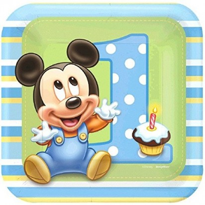 "7"" Party Mickey Mouse First Character Plates (8 pcs.)"