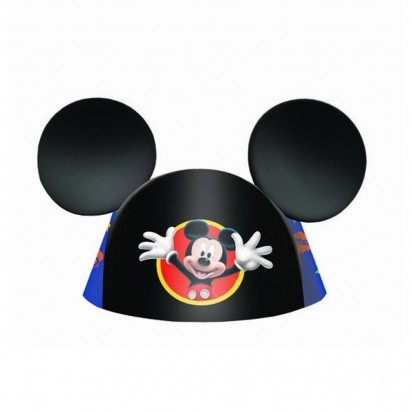 Mickey Mouse Ears Party Cone Hats (6pcs)