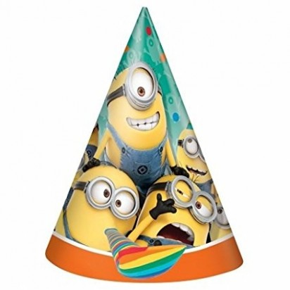 Minions Paper Party Hats (6pcs)