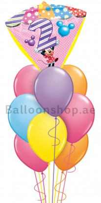 Minnie Mouse 2nd Birthday Balloon Arrangement