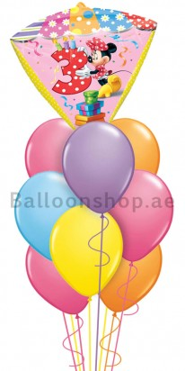 Minnie Mouse 3rd Birthday Balloon Arrangement