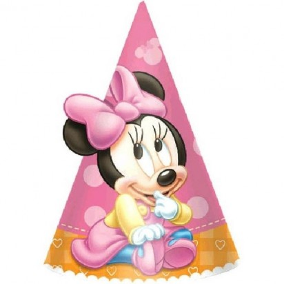 Minnie Mouse Party Hats (6pcs)