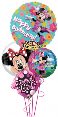 Disney Minnie Mouse Singing Birthday Balloon Bouquet