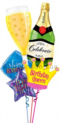 Personalized Crown Birthday Queen Balloon Birthday Bouquet