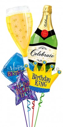 Happy Birthday King Birthday Balloon Bouquet
