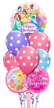 Princess Crown Sing Happy Birthday Balloon Bouquet