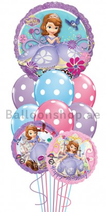 Sofia the First Kids Singing Birthday Balloon Bouquet