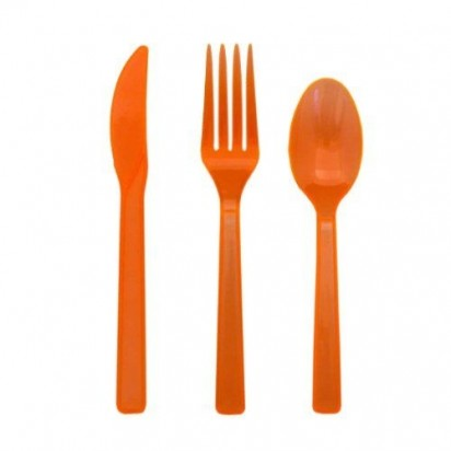 Party Cutlery Orange Assortment (24 cts)