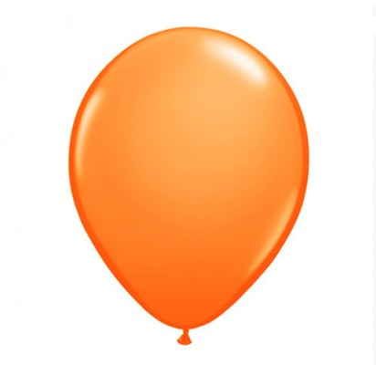 "11"" Orange Helium Plain Latex Balloon"