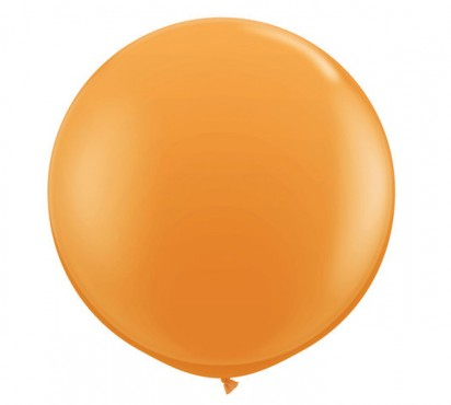 3' Orange Larfge Helium Balloon (90cm)