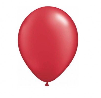 """11"""" Pearl Ruby Red Plain Helium Balloons"""