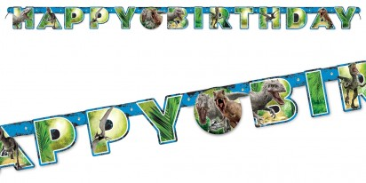 10FT. (3m long) Jumbo Happy Birthday Letter Banner-Jurassic