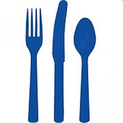 Party Cutlery Dark Blue Assortment (24 cts)