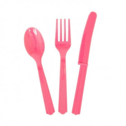 Party Cutlery Pink Assortment (24 cts)