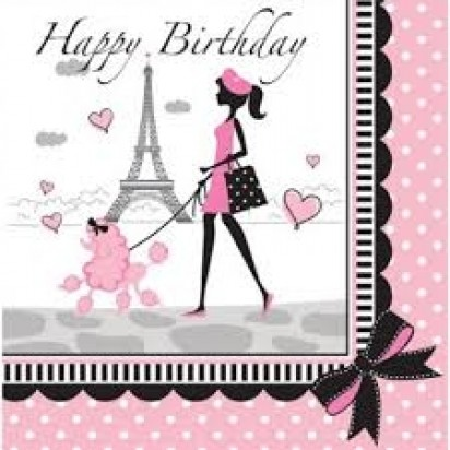 """13"""" Party In Paris Luncheon Napkin (16ct, 2 ply)"""