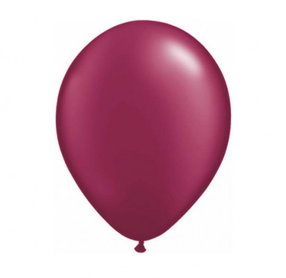 "11"" Pearl Burgundy Helium Plain Latex Balloons"