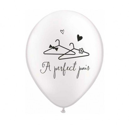 "11"" A Perfect Pair Wedding Balloons"