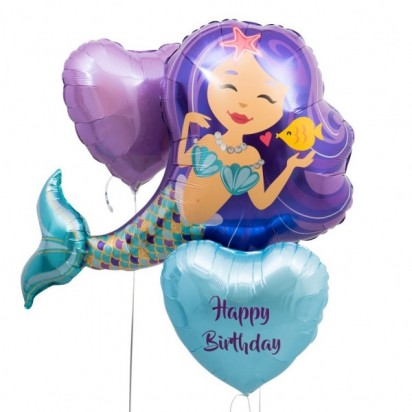 Personalized Enchanting Mermaid Balloon Bouquet
