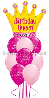 Birthday Queen Any Name Birthday Balloon Bouquet