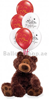 (Gund) Gold Perfect Pair, Valentine's Day Balloons