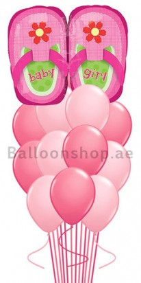 pink baby balloons