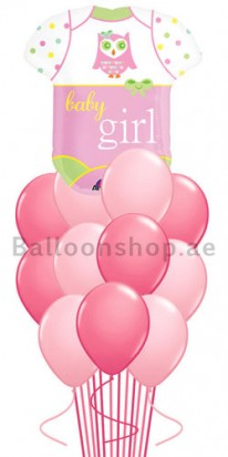 pink baby helium balloons