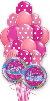 Pink Bash Birthday Balloon Bouquet