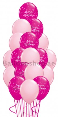 A Touch of Pink Birthday Balloon Bouquet