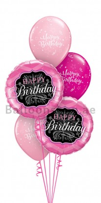 Elegant Pink Bouquet Birthday Balloon Bouquet