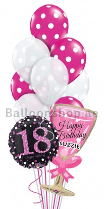 (10 Balloons) Personalized 18th Birthday
