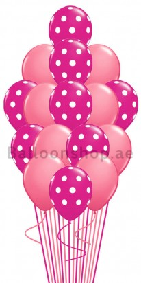 Polka Pink & Pink Balloon Bouquet
