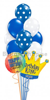 (14 Balloons) Personalized Blue King