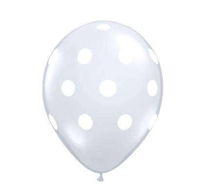 Transparent Clear Polka (Price Per Balloon)