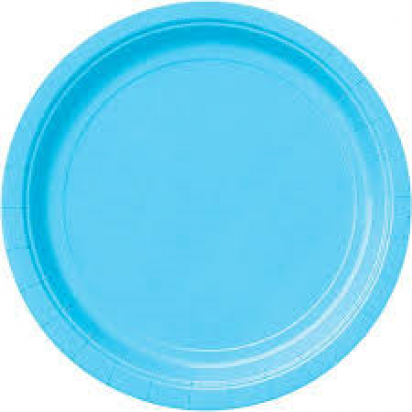 "7"" Powder Blue Normal Party Plates (8ct)"