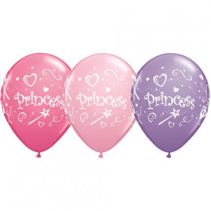 "11"" Princess Assortments Helium Balloons (Set of 3)"