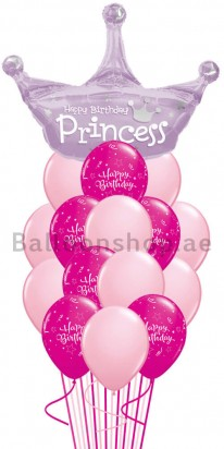 Birthday Princess Birthday Balloon Bouquet