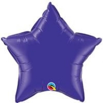 "20"" Purple Star Helium Foil Balloon"