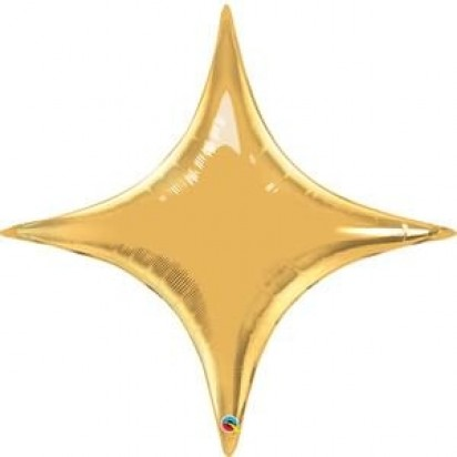 "36"" STAR POINT GOLD HELIUM SHAPE"