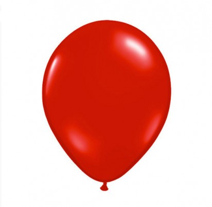 "11"" Red Plain Helium Latex Balloon"