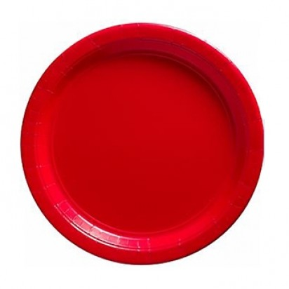 "8"" Red Normal Party Plates (8ct)"
