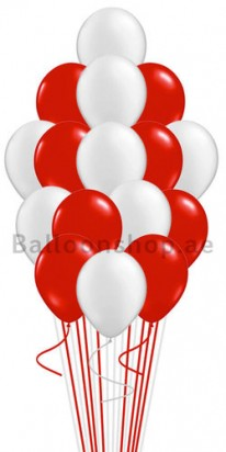 Red & Silver Balloon Bouquet