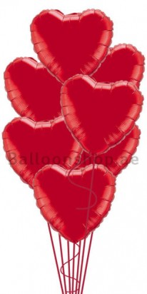red heart foil balloons dubai