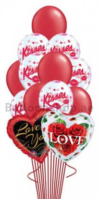 13 Balloon Kisses Valentines Balloon Bouquet